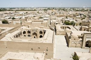 panoramic-view-of-khiva-uzbekistan-from-the-minaret-of-juma-mosque